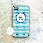 Iphone 4 4s Blue Anchors C..